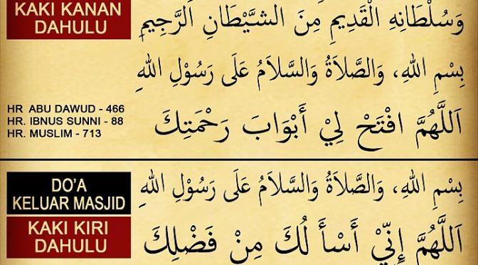 Do'a Ketika Menuju, Masuk, dan Keluar Masjid…