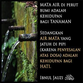 Mata air dan air mata…