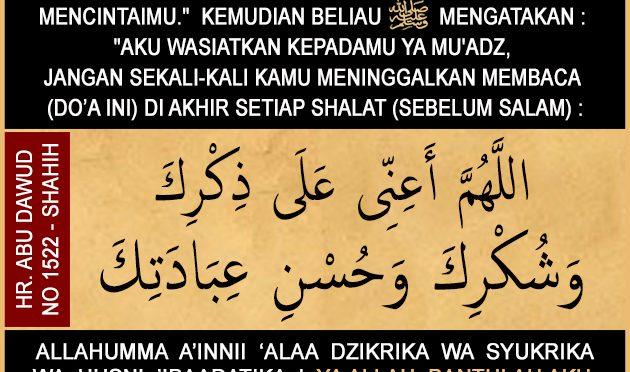 DUA Do'a Yang Kita Baca Di Setiap Akhir Sholat (sebelum salam)…