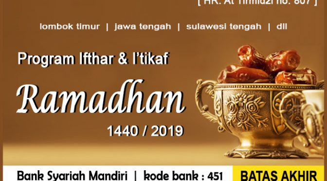Program Ifthar dan I'tikaf…