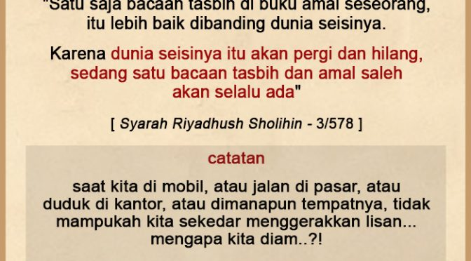 Renungan 18 Ramadhan 1440 H…