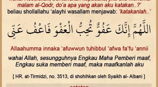 Renungan 21 Ramadhan 1440 H…