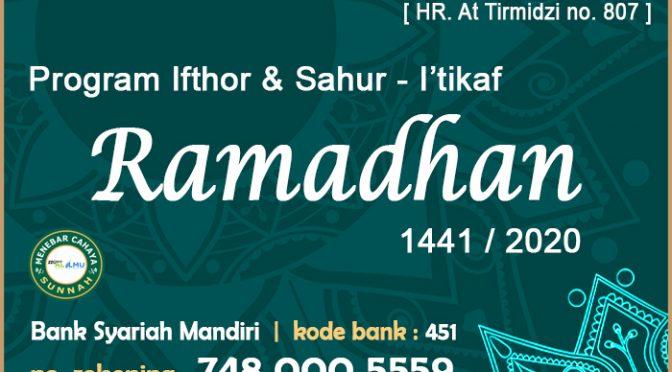 UPDATE – TEBAR KURMA Dan IFTHOR + SAHUR I'TIKAF – RAMADHAN 1441