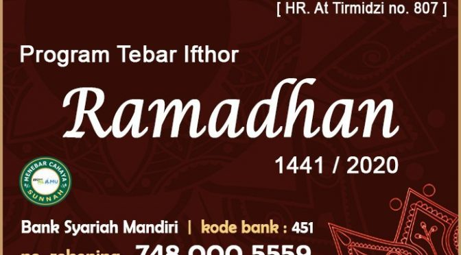 SELESAI – TEBAR IFTHOR – RAMADHAN 1441