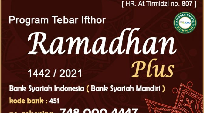 UPDATE – TEBAR IFTHOR RAMADHAN PLUS – 1442 / 2021