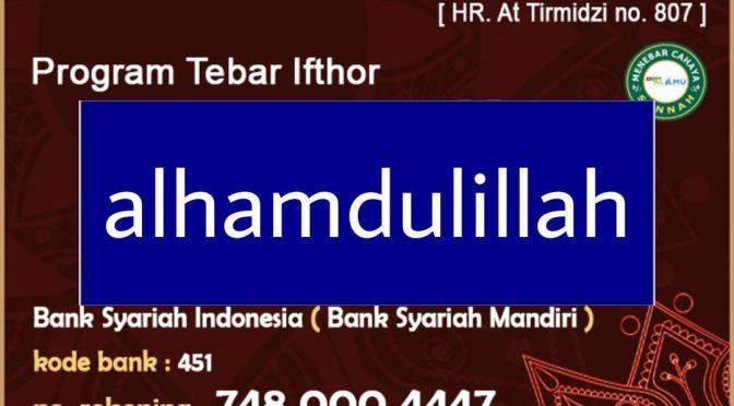 SELESAI – TEBAR IFTHOR RAMADHAN PLUS – 1442 / 2021