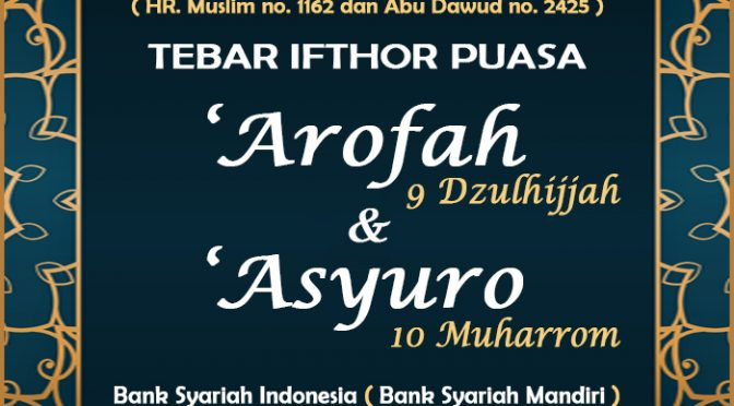 UPDATE – TEBAR IFTHOR Puasa 'Asyuro 1443